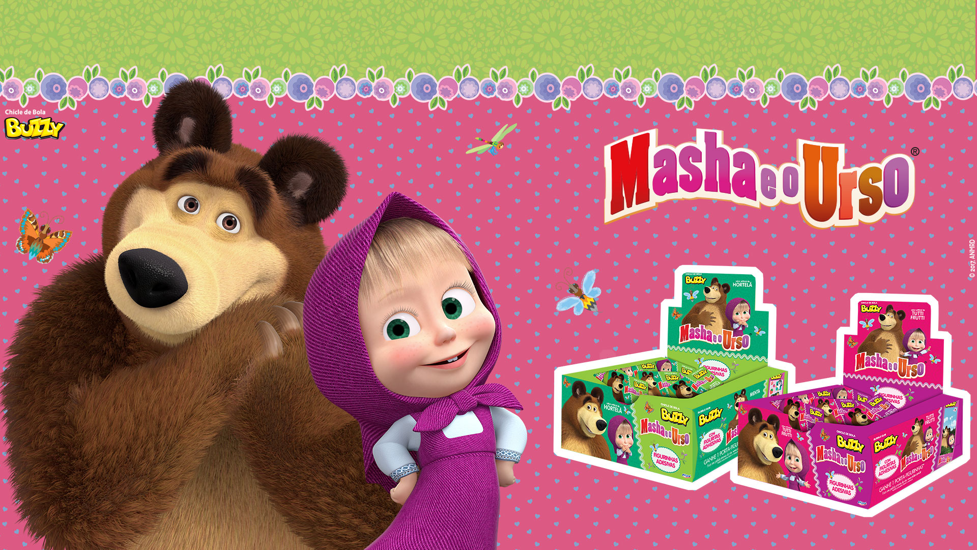 Buzzy Masha and the bear